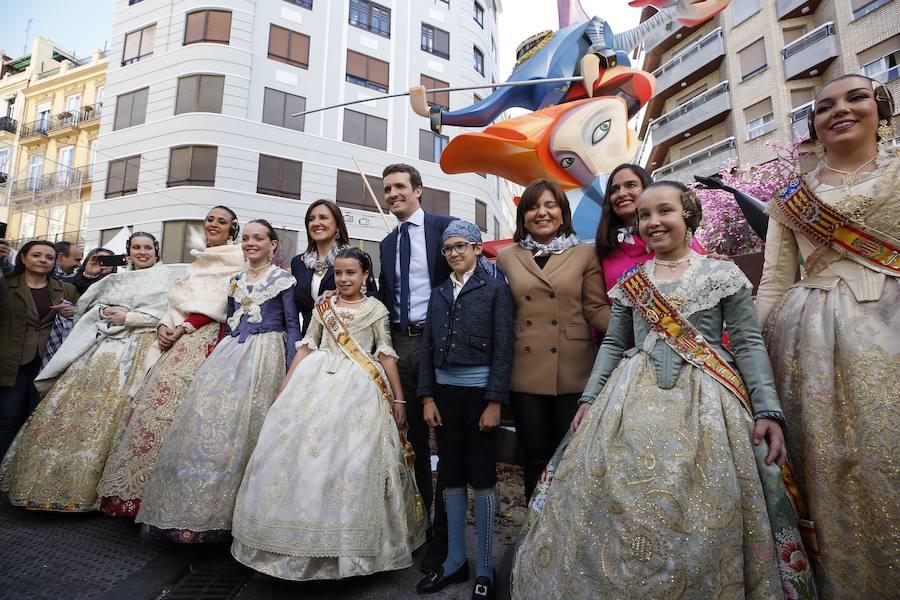 Pablo Casado visita las Fallas