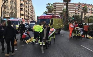 Un conductor drogado hiere a tres peatones al arrollarles tras saltarse un semáforo en rojo