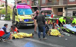 Un conductor drogado arrolla a tres peatones tras saltarse un semáforo en rojo