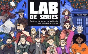 ¿Qué personajes de series reconoces en este cartel?