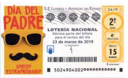 Sorteo de la Lotería Nacional del sábado: comprobar resultados del Día del Padre 2019