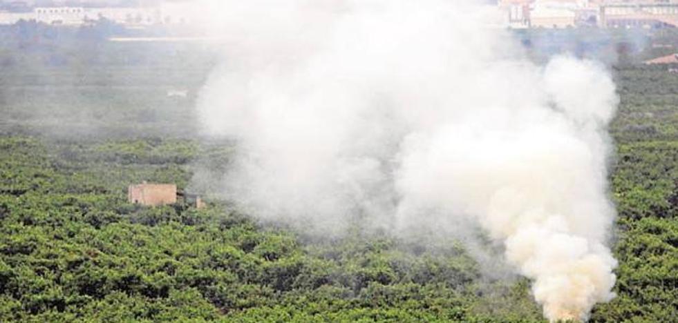 Hallan a un anciano muerto tras una quema de rastrojos en Burriana