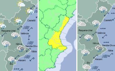 Lluvias, tormentas y frío en casi toda la Comunitat Valenciana