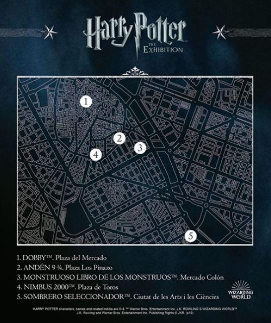 Las esculturas gigantes de Harry Potter en Valencia