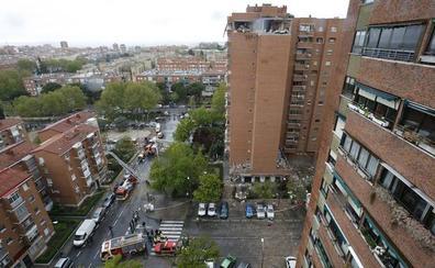 Heridas 16 personas por una explosión de gas en un edificio de Madrid