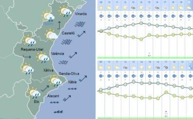 Más frío hoy sábado en Valencia y probables chubascos en el resto de la Comunitat