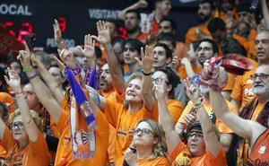La afición del Valencia Basket, preparada para el partido contra el Alba Berlín