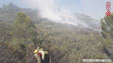 Incendio en Benigembla y Castell de Castells