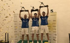 Sergio, Seve y Ricardet, campeones de la Lliga de raspall