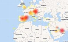 El mapa de la caída mundial de WhatsApp, Instagram y Facebook