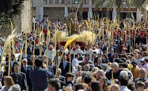 Las palmas blancas dan paso a la Semana Santa