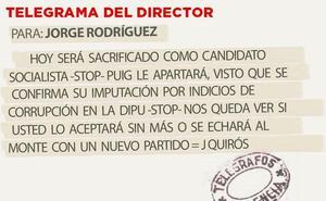 Telegrama para Jorge Rodríguez