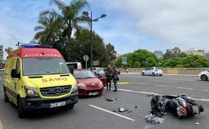 Heridos dos motoristas en accidentes en Reino de Valencia y Blasco Ibáñez