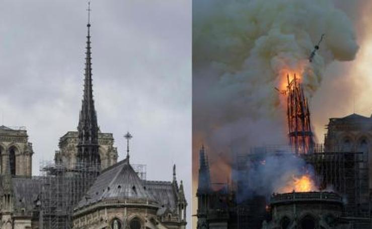 El incendio de la catedral de Notre Dame, en imágenes