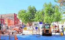 Las obras de la calle Camí Reial de Torrent avanzan a buen ritmo
