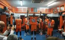 Así celebra el vestuario del Valencia Basket el título de Eurocup
