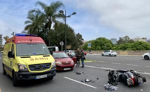 Dos hombres, heridos en accidentes de moto