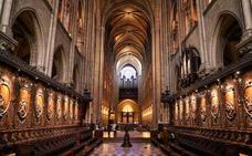 Así era la catedral de Notre Dame por dentro