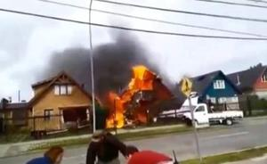 Tragedia aérea en Chile al caer una avioneta sobre una casa