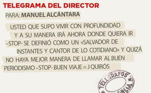 Telegrama para Manuel Alcántara