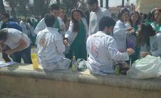 Botellón en Valencia de alumnos de la facultad de Medicina