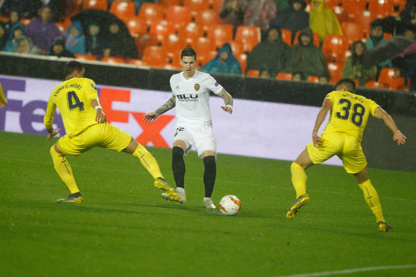 Valencia CF - Villarreal en la vuelta de los cuartos de final de la Europa League