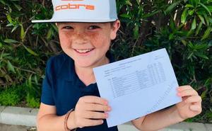 Albert Kibblewhite, ganador de la partida de primavera de La Sella Golf Academy