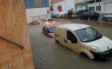 El temporal causa ahora lluvias torrenciales en la Marina Alta y la Safor