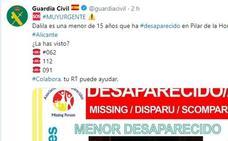 Aparece en buen estado la menor de 15 años que era buscada en Alicante