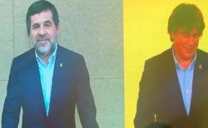 Puigdemont y Jordi Sànchez se reencuentran año y medio después y tratan de capitalizar la cárcel y el exilio