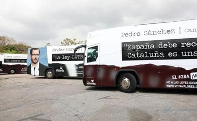 Los nuevos autobuses de HazteOir que llegarán a Valencia