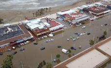 Los efectos del temporal en Xàbia vistos desde el aire
