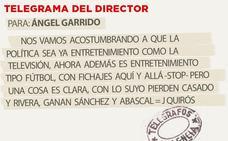 Telegrama para Ángel Garrido