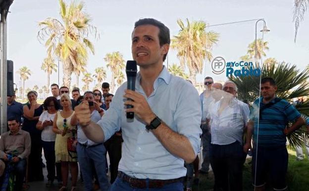 Mitin del PP en Valencia: Pablo Casado se va al Puerto