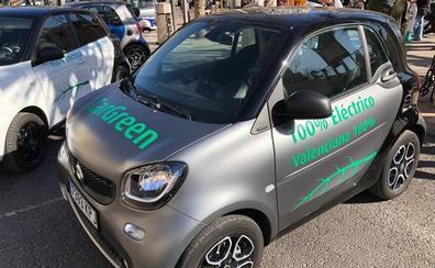 Los coches compartidos en la calle se estrenarán en Valencia con cien vehículos este verano