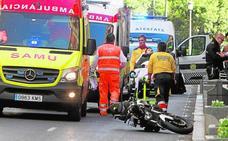 Los accidentes se agravan en la ciudad de Valencia
