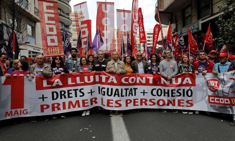 Manifestación del Primero de Mayo, Día del Trabajador, en Valencia