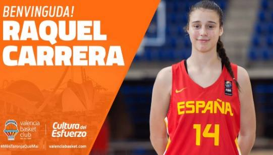 El Valencia Basket ficha a Raquel Carrera hasta 2024