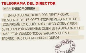 Telegrama para Enric Morera