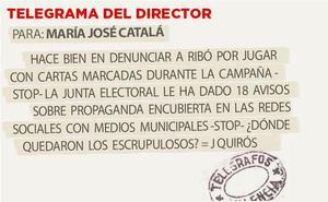 Telegrama para María José Catalá