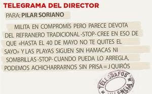 Telegrama para Pilar Soriano