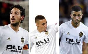 Parejo, Rodrigo y Gayà, con la selección española