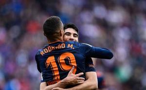 Soler y Rodrigo, autores de los goles que clasifican al equipo para Champions