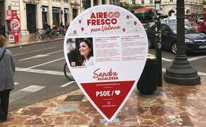 Un concejal de Compromís obliga al PSPV a retirar ocho carteles electorales