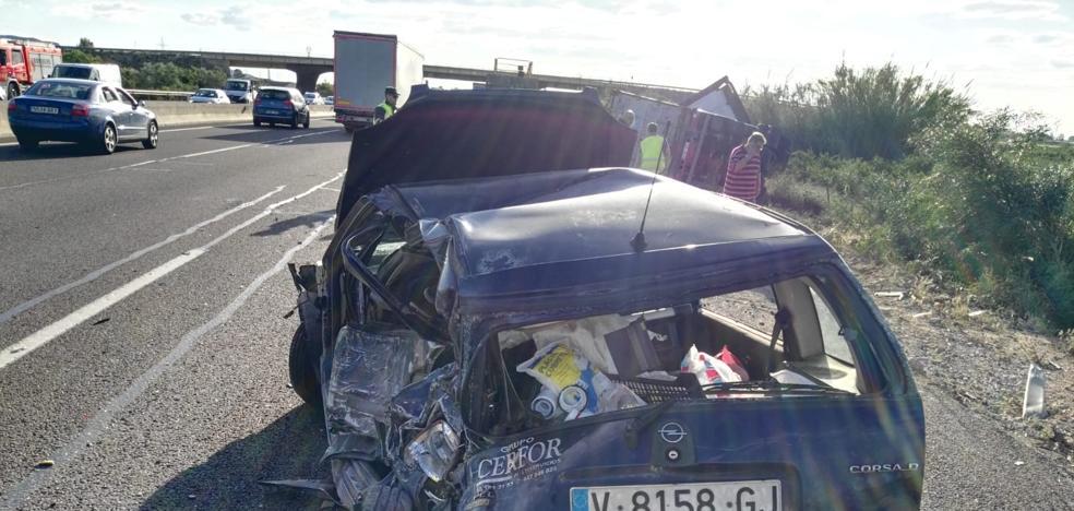 Herido grave al ser atropellado por un camión en Bétera