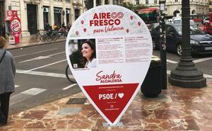El PSPV retira los carteles electorales de Sandra Gómez