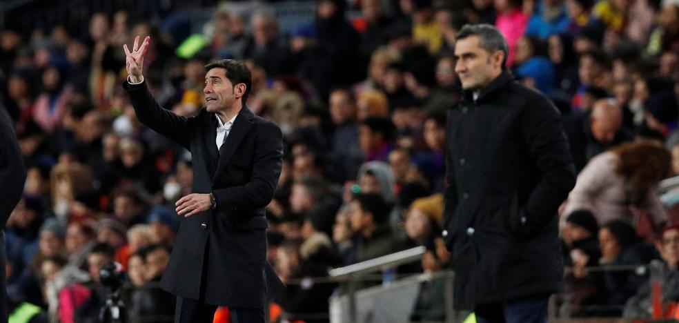 Marcelino y Valverde, los estrategas de la final de la Copa del Rey 2019