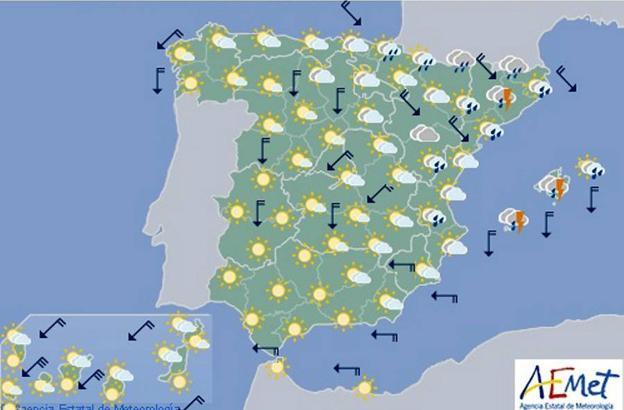 Mapa De Tiempo Espana.Aemet Prevision Del Tiempo Para El Viernes En Toda Espana Las Provincias