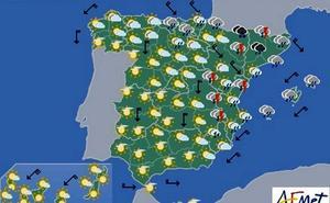 Previsión del tiempo para el viernes en toda España