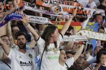 La afición del Valencia CF en la final de Copa
